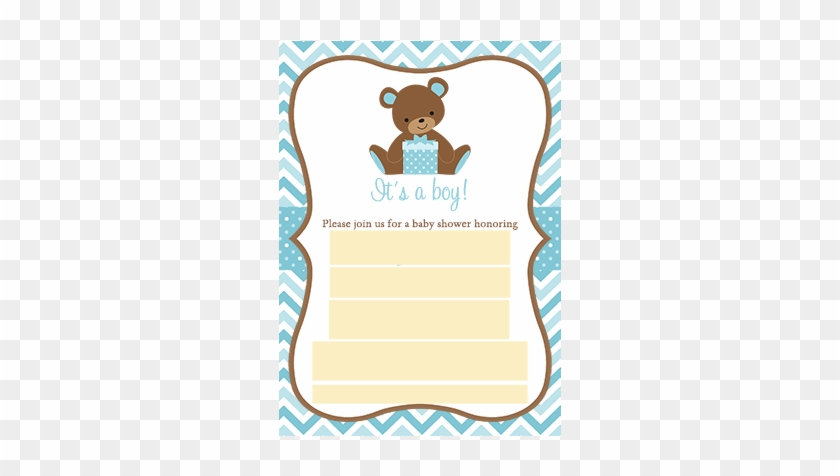 Error Message - Teddy Bear Baby Shower Invitations #1307484