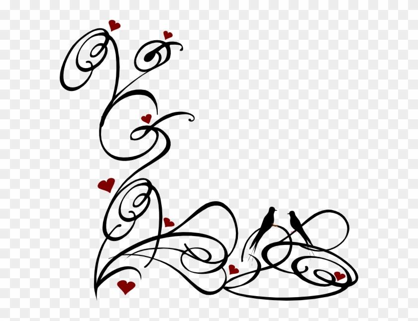 Decorative Swirl Clip Art At Clker Com Vector Clip - Black And White Corner Swirls #1308058