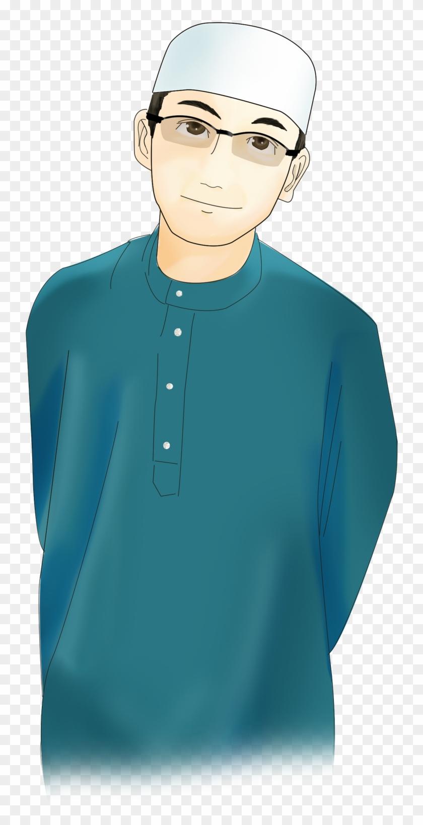 Islam Cartoon Muslim Hijab Man - Muslim Man Image Png #1308105