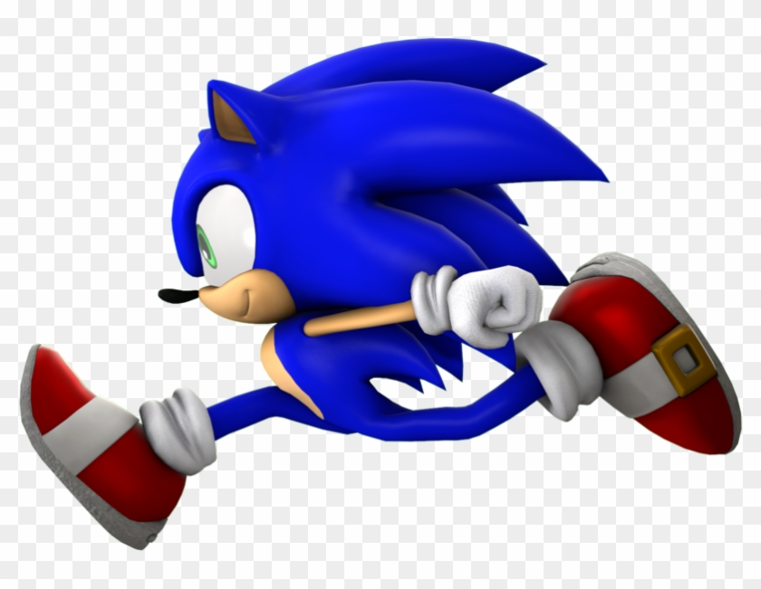 Sonic Running Pose Render By Nikfan01 Sonic The Hedgehog Running Free Transparent Png Clipart Images Download