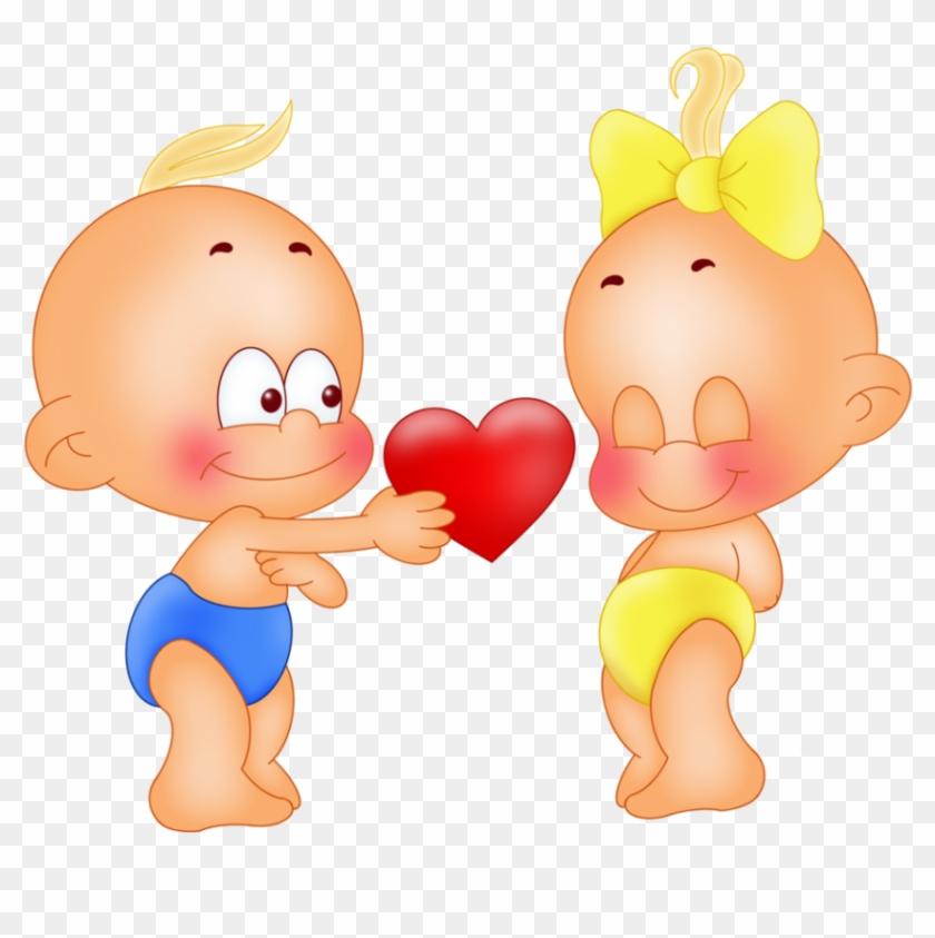 Смешные картинки девочки и мальчика для детей