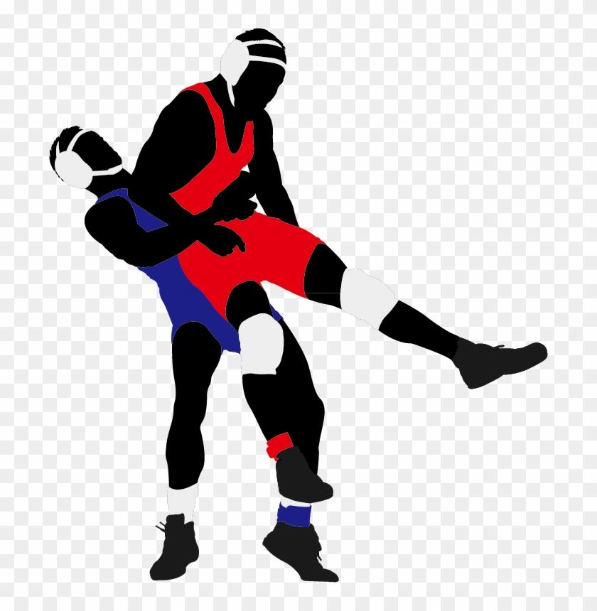 Wrestling Lucha Libre Silhouette Clip Art - Jostle Meaning #27058