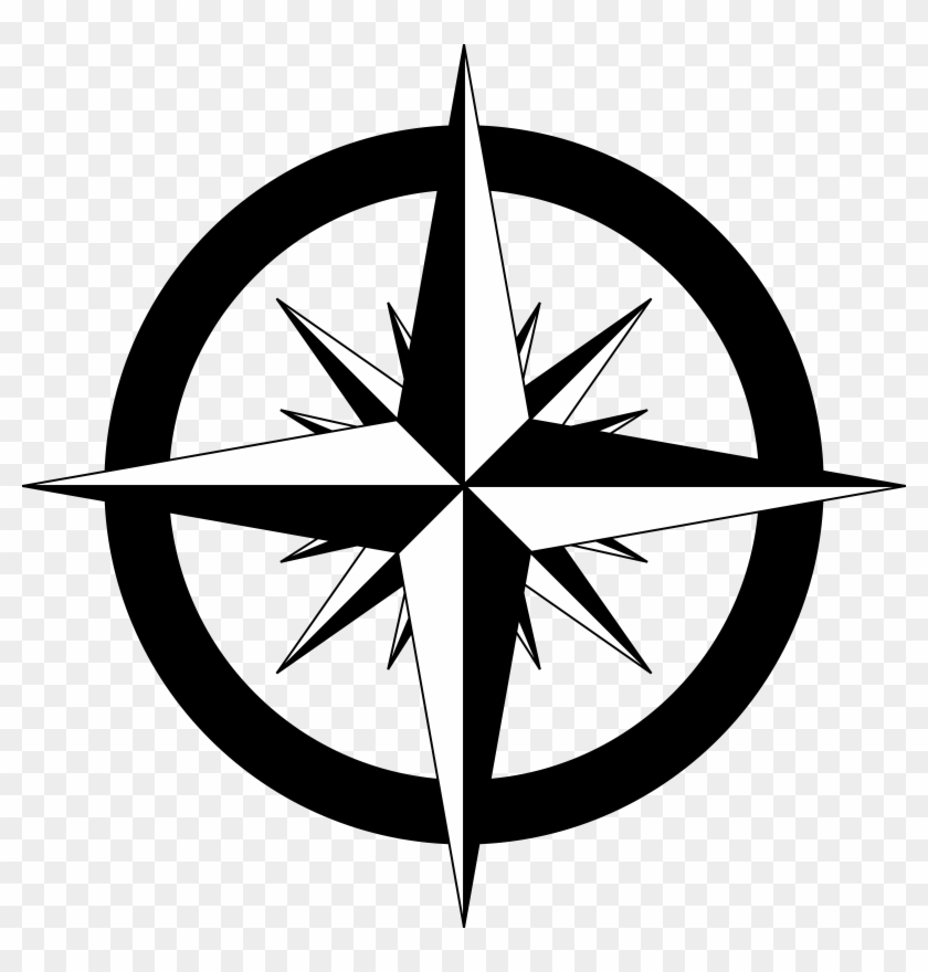 Medium Image - Compass Rose With Cardinal And Intermediate Directions #27049