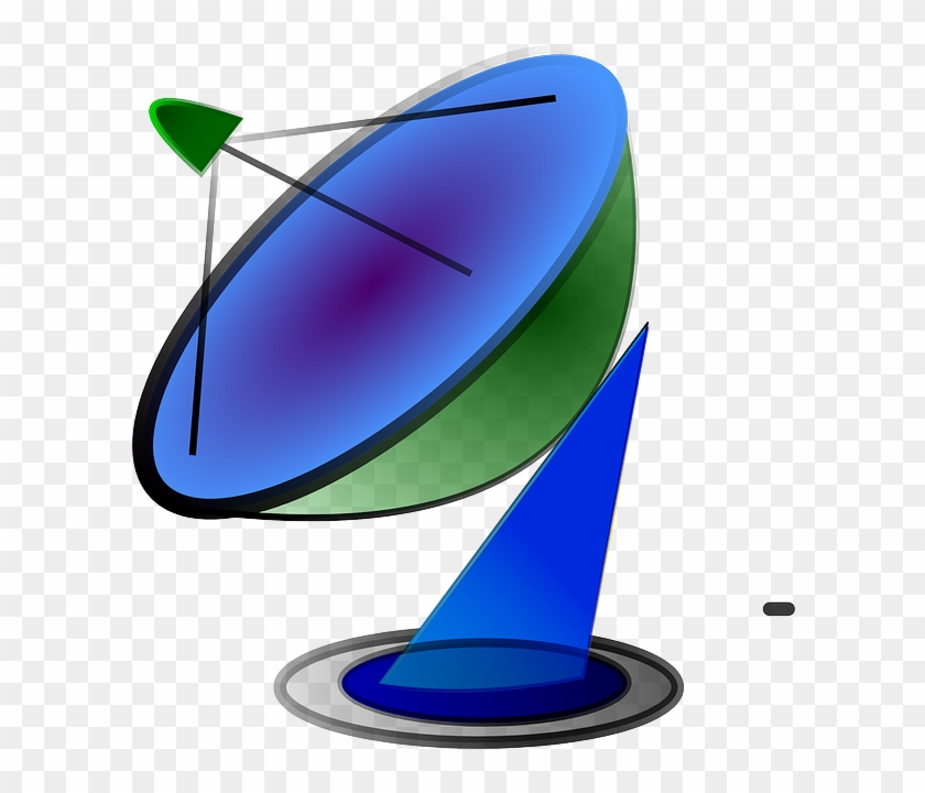 Dish Computer, Internet, Network, Satellite, Cartoon, - Satellite Dish Icon #27148