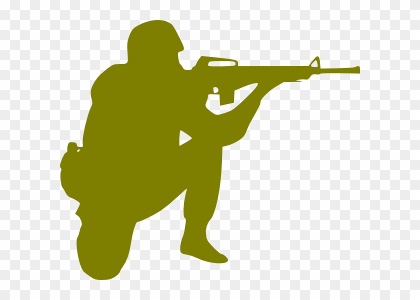 Soldier Clip Art At Clker - Army Soldier Silhouette #27203
