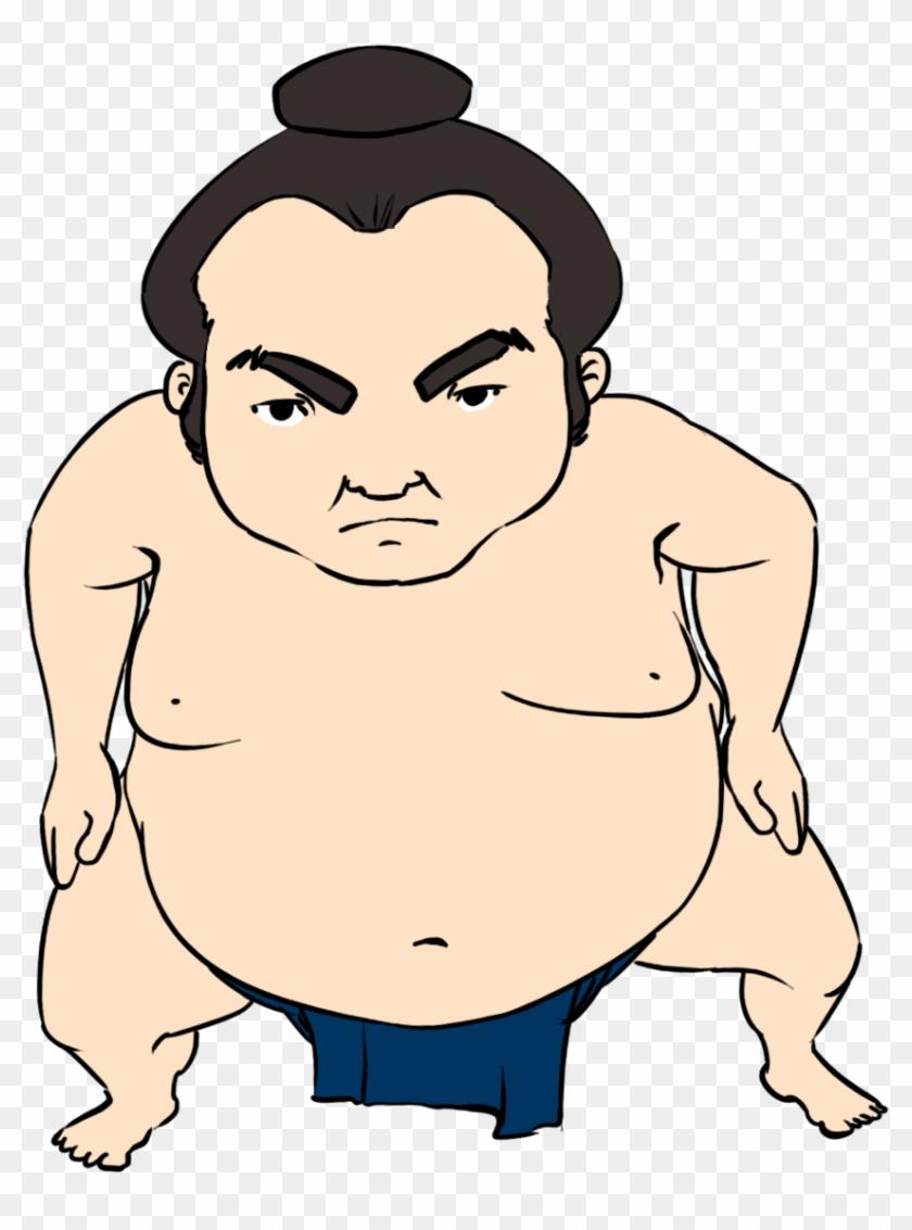 Wrestling Sumo Wrestler Clip Art Clipart - Sumo Wrestler Clipart #27215