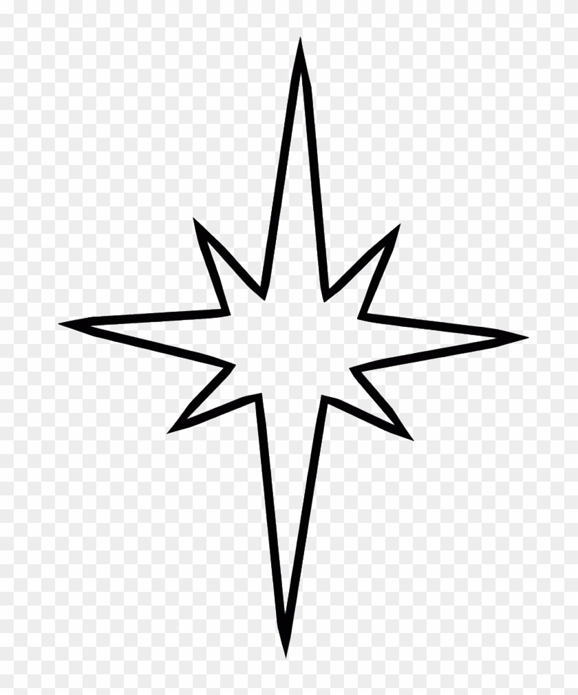 Simple Christmas Tree With Star Coloring For Kids - Step By Step Shooting Star Drawing #27220