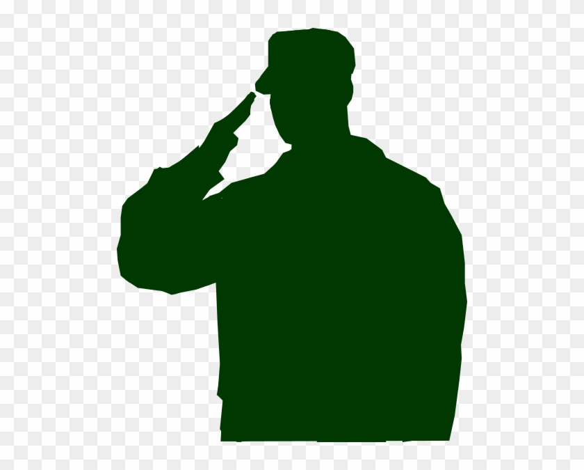 Soldier Saluting Silhouette #27229