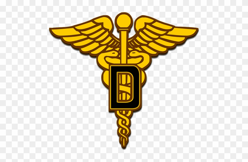 Dental Corps Caduceus Symbol - Army Medical Branch Insignia #27271