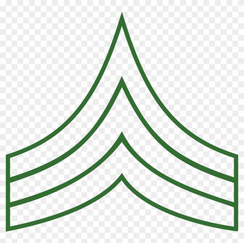 Sergeant Insignia Svg Vector File, Vector Clip Art - Clip Art #27320