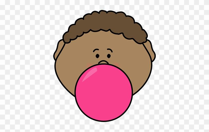 Bubblegum Boy - Blowing Bubble Gum Clipart #27332