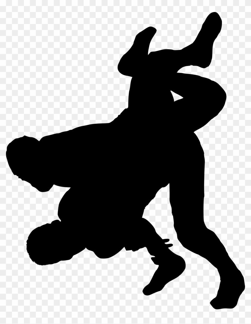 Wrestling Silhouette - Wrestling #27380