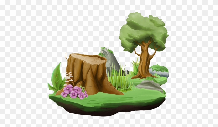 2d Forest Elements - Illustration #27391
