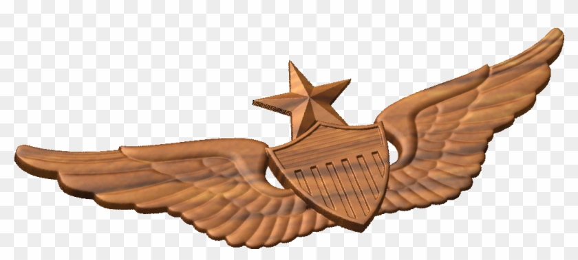 Cnc Military Emblems Us Army Qualification Badge Models - United States Aviator Badge #27397