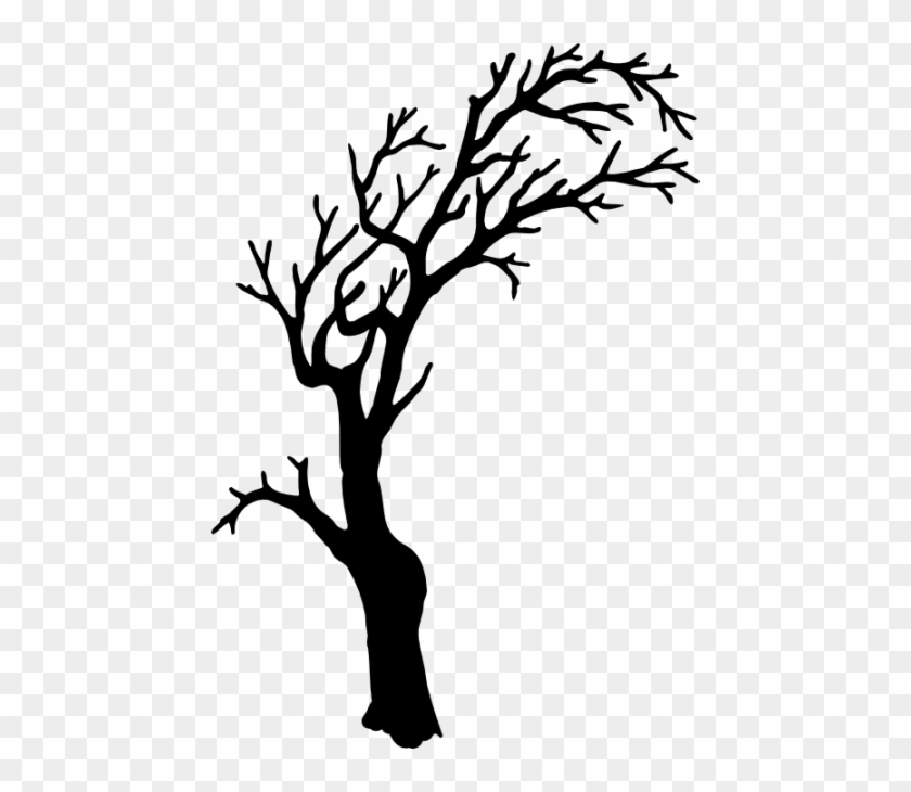 Halloween Tree Silhouette Clipart - Spooky Tree Silhouette Png #27406