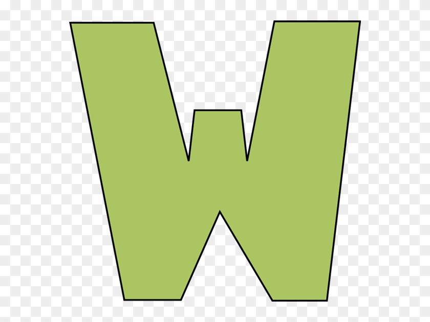 Green Letter W Clip Art - Letter W Clipart #27407