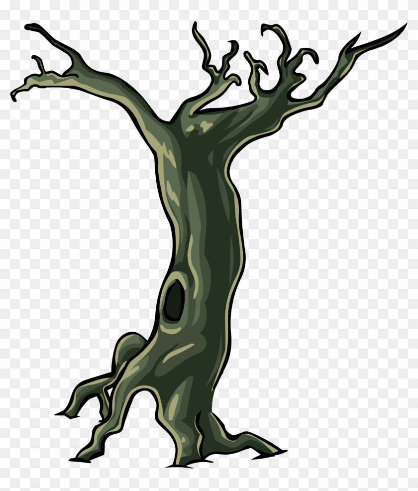 Spooky Tree - Club Penguin Halloween Tree #27424