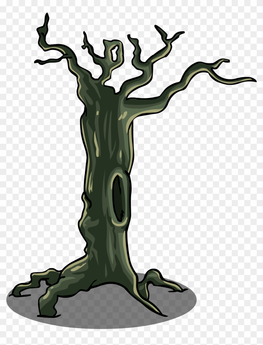 Spooky Tree Sprite 002 - Spooky Tree Clipart Png #27428