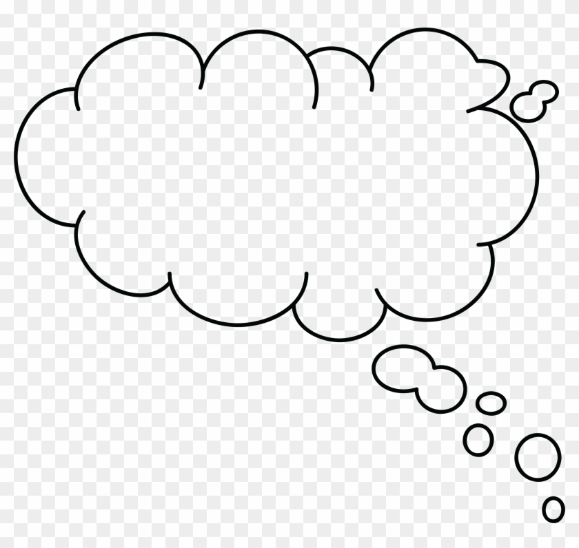 Thought Clipart Png Images - Speech Bubble Thinking Transparent #27447