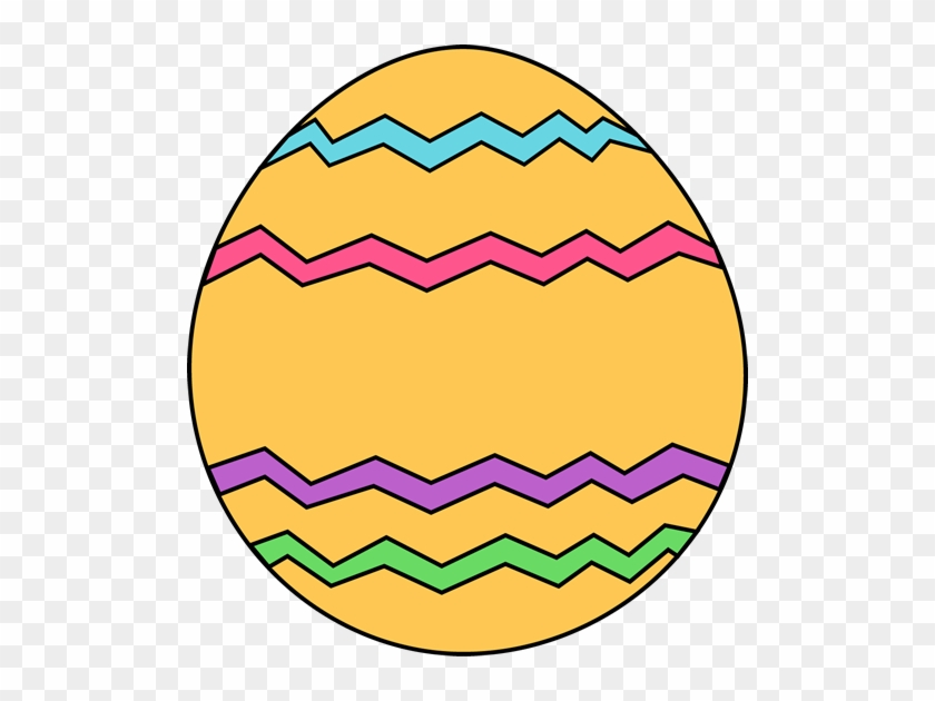 Yellow Zig Zag Easter Egg - Clip Art Easter Egg #27448