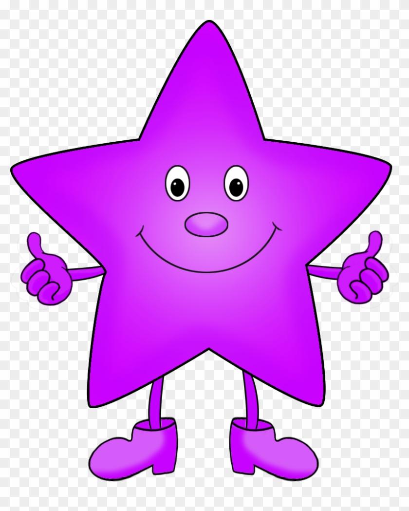 Purple Funny Star Clipart - Clip Art #27481
