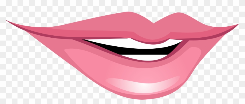 Pink Smiling Mouth Png Clip Art - Clip Art #27524