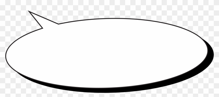 Comic Speech Bubble Transparent Png Clip Art Image - Circle #27535