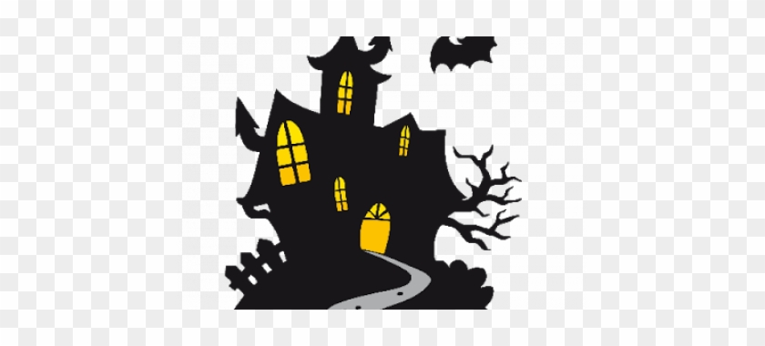 Haunted House Clipart Cartoon - Spooky Castle Clipart #27545