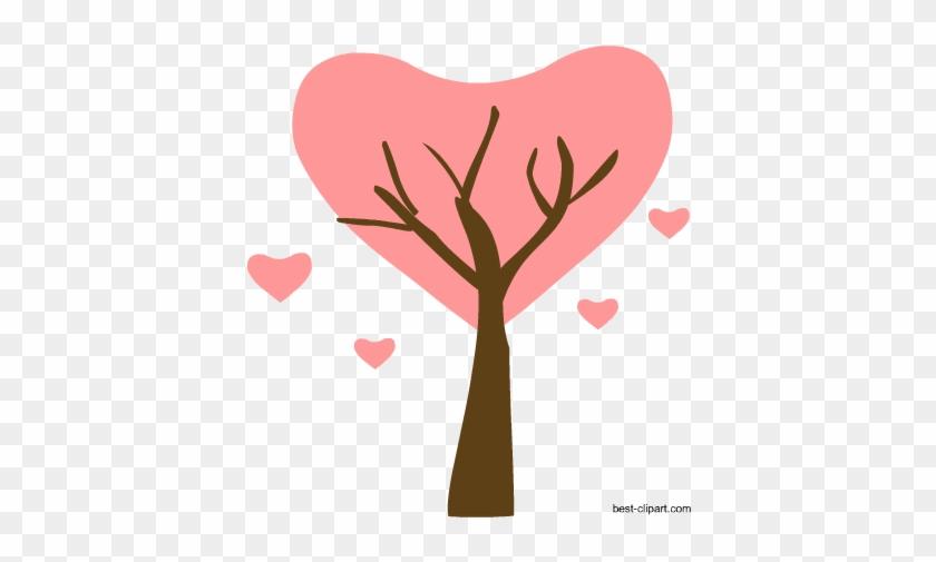 Heart Shaped Tree, Free Png Clip Art - Clip Art #27563