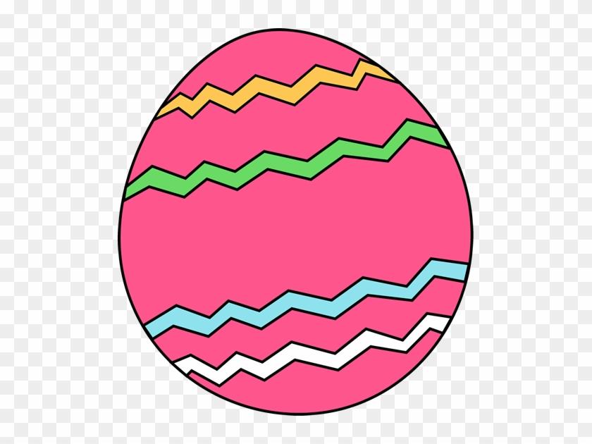 Pink Zig Zag Easter Egg - Easter Eggs Clip Art #27571