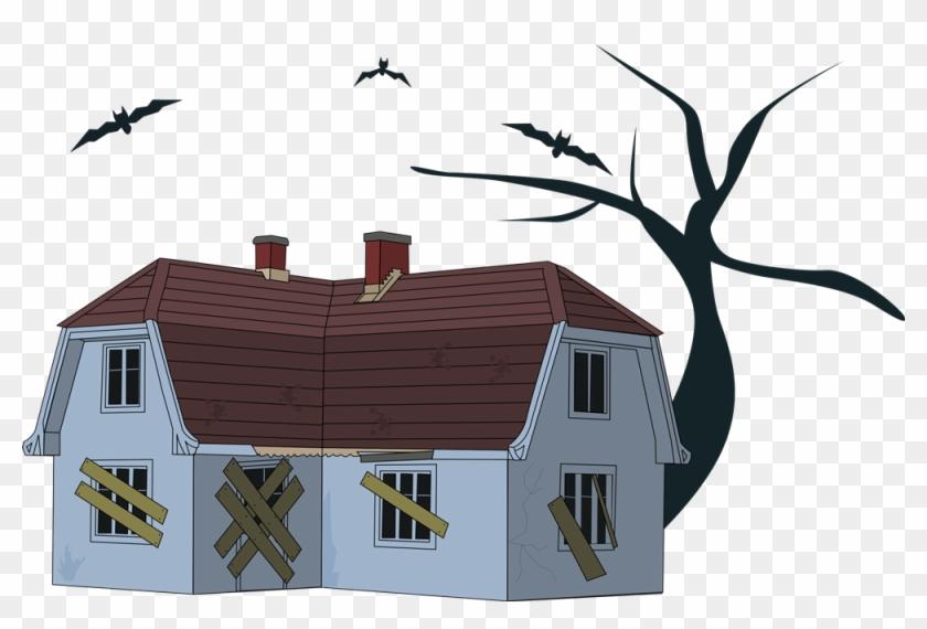 Haunted House Clip Art - Creepy House Clipart #27581