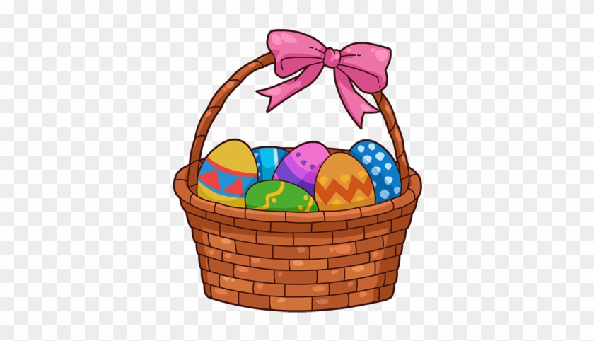 Basket Clip Art - Easter Egg Basket Cartoon #27587