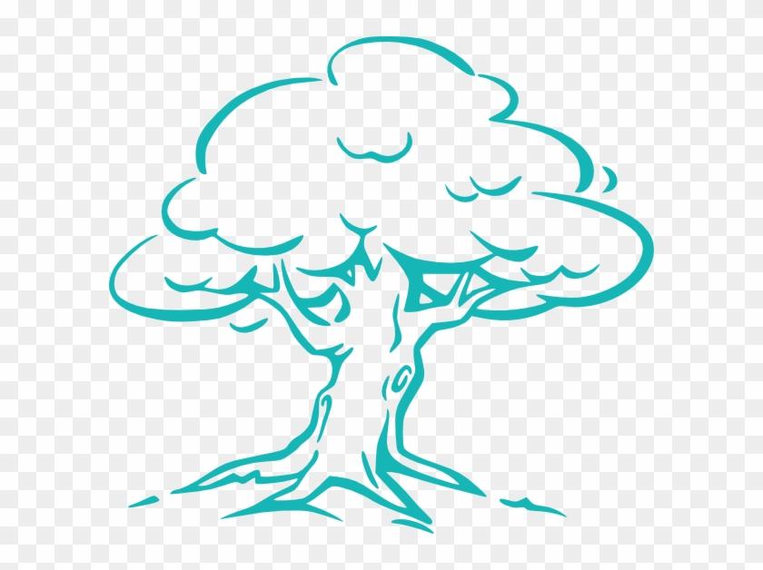 Purple Heart Tree - Cartoon Oak Tree #27618