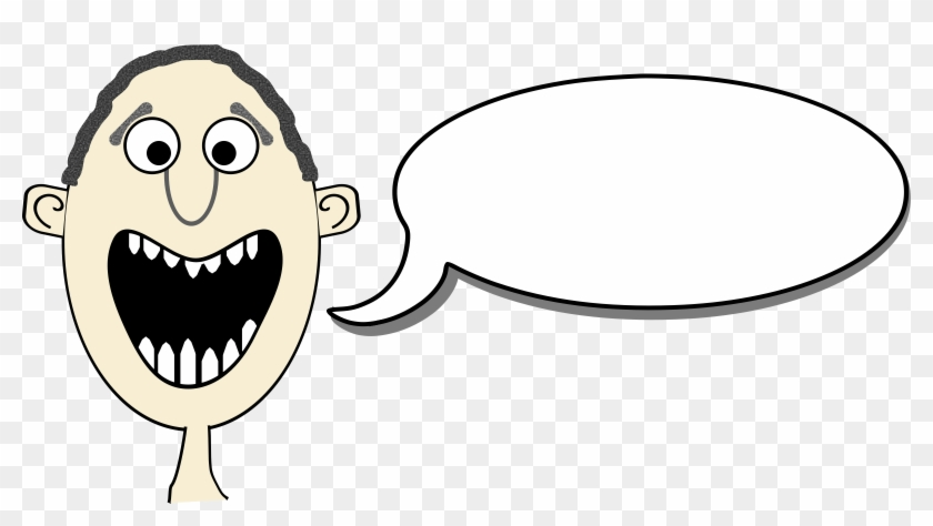 Clipart - Cartoon With Speech Bubbles #27644