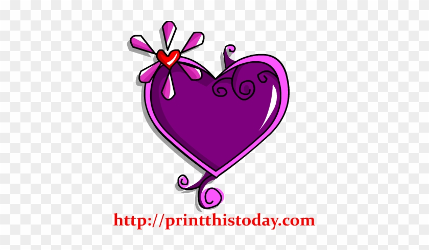 Gem Like Heart Clip Art - Purple And Red Bears Clipart #27658
