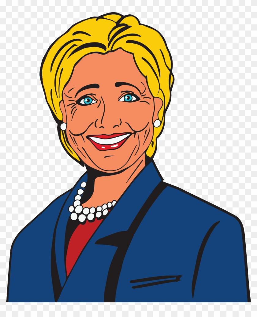 Free Clipart Of Hillary Clinton - Hillary Clipart #27668