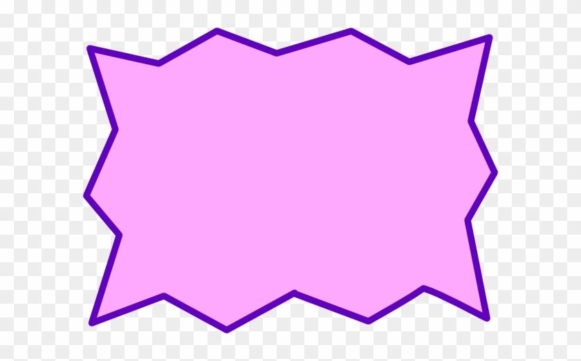 Pink Speech Bubble Clip Art At Vector Clip Art - Superhero Speech Bubble Clip Art #27724