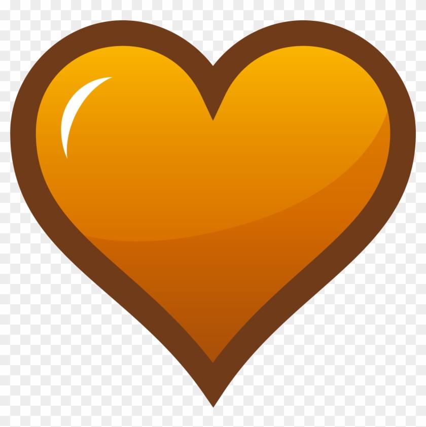 Orange Heart Clip Art - Heart Orange #27734
