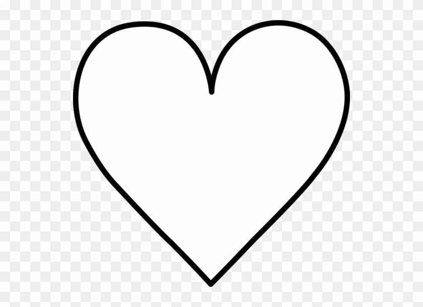 Black And White Heart Clipart - Heart Black And White Outline #27744