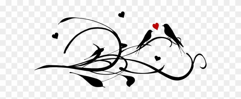 Lovebird Clipart Red Bird - Hearts And Love Birds #27763