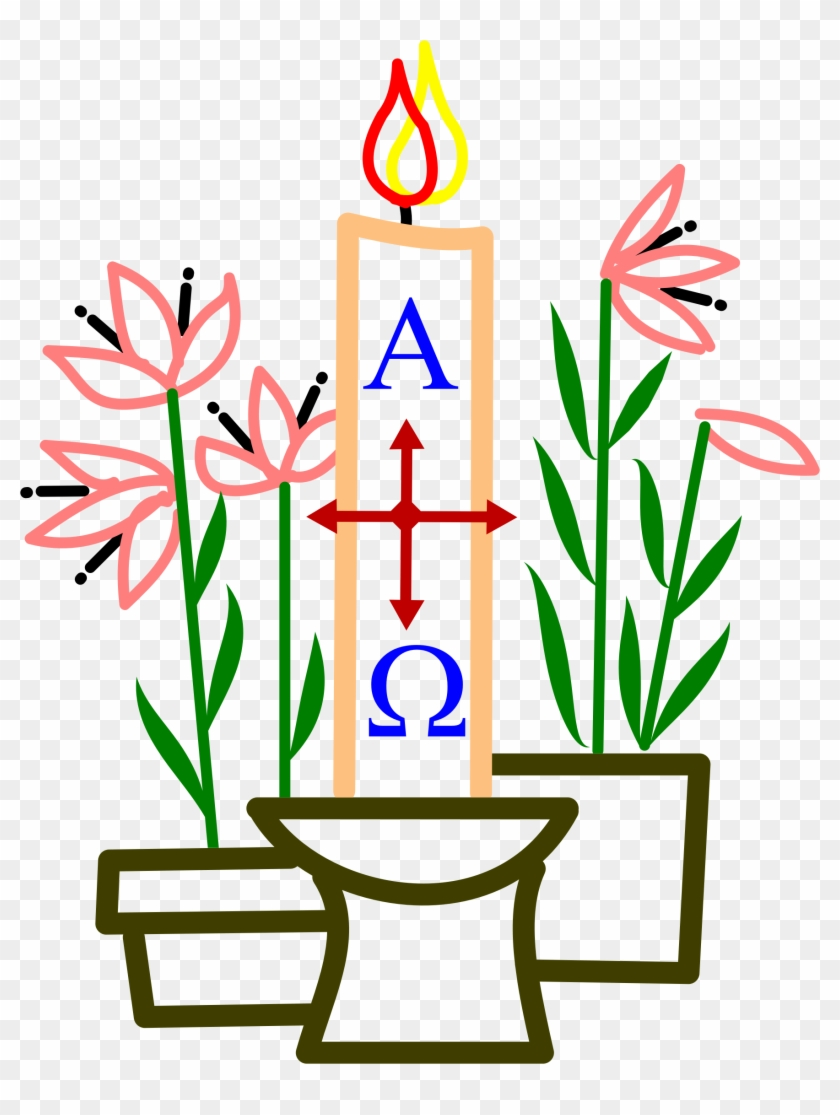 Medium Image - Easter Candle Clipart #27805