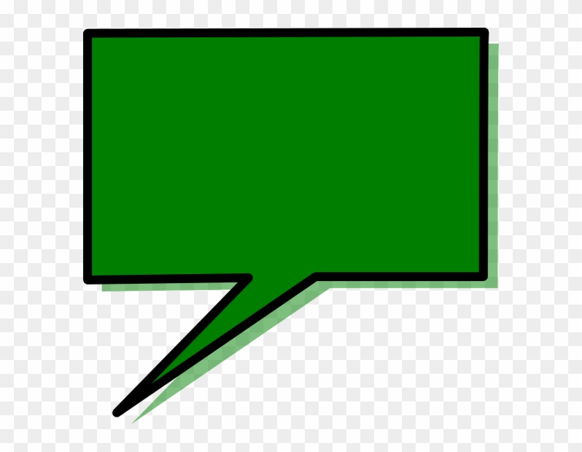 Green Speech Bubble Clip Art - Clip Art #27808