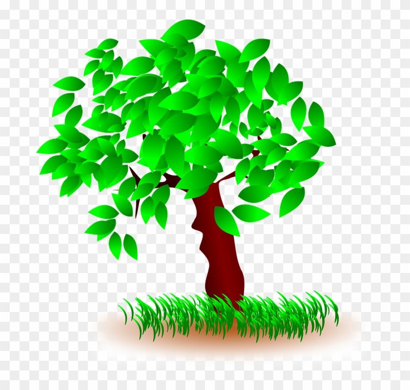 Tree Clipart Grass - Grass And Tree Clipart #27818