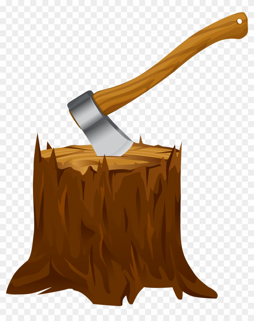 Tree Stump Clip Art - Axe Clipart #27856