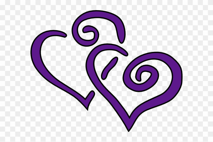 Purple - Wedding - Heart - Clip - Art - Clip Art Purple Hearts #27846