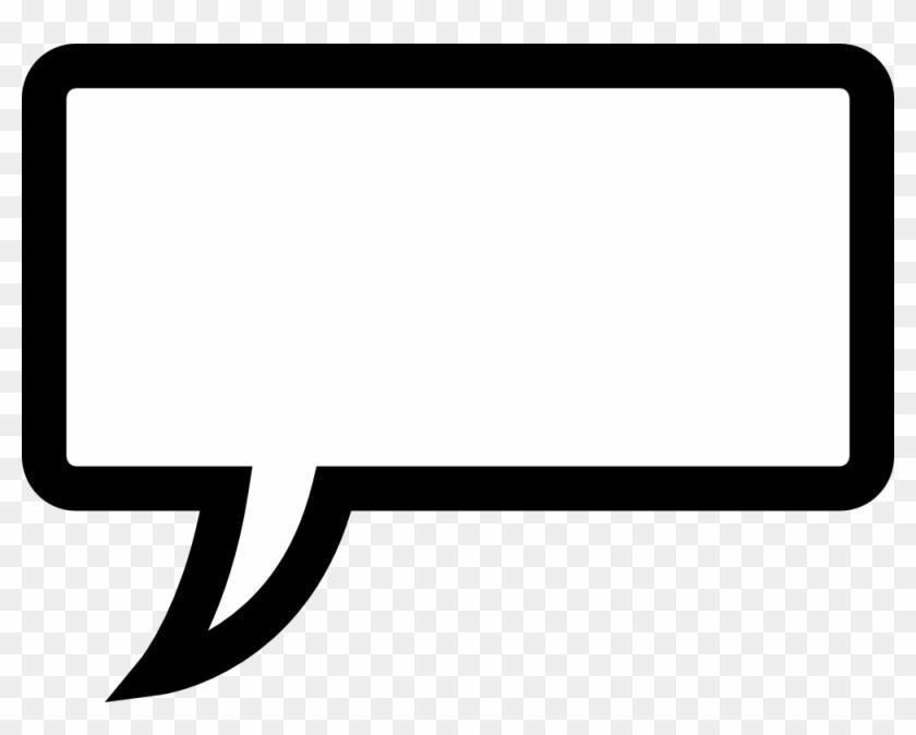 Square Clipart Speech Bubble - Speech Bubble Rectangle #27867