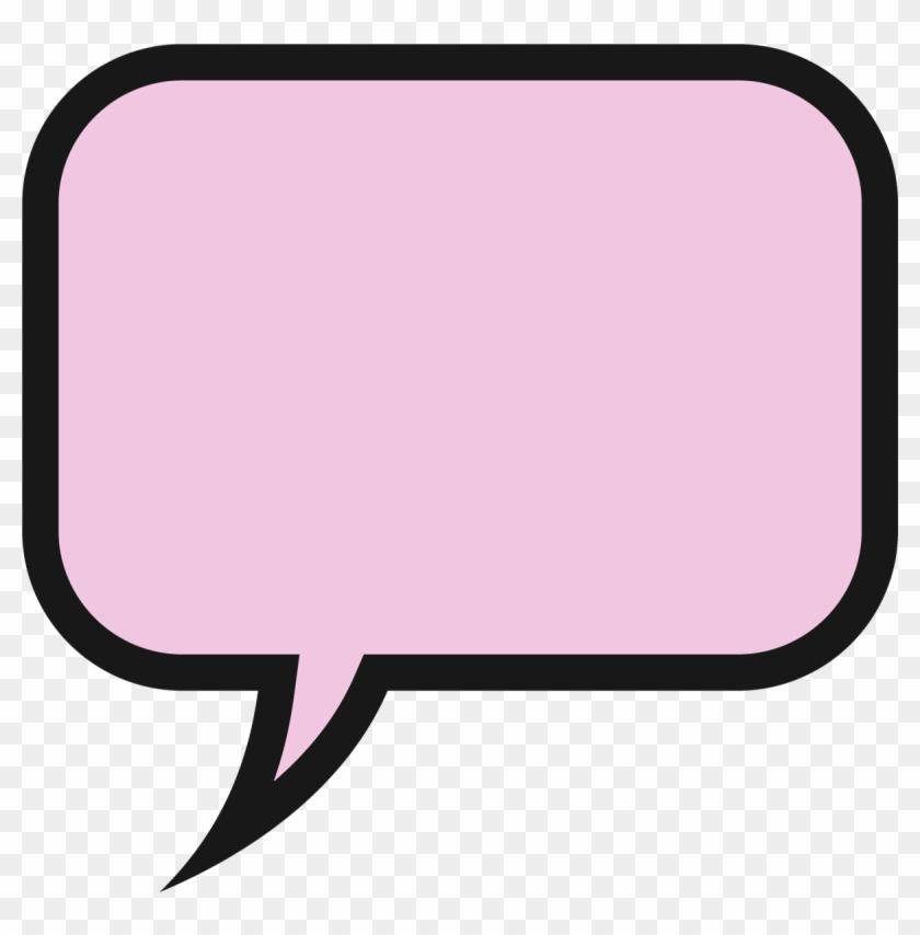 Speech Bubble Doing Bubble Clipart - Speech Bubble Clipart Pink #27871