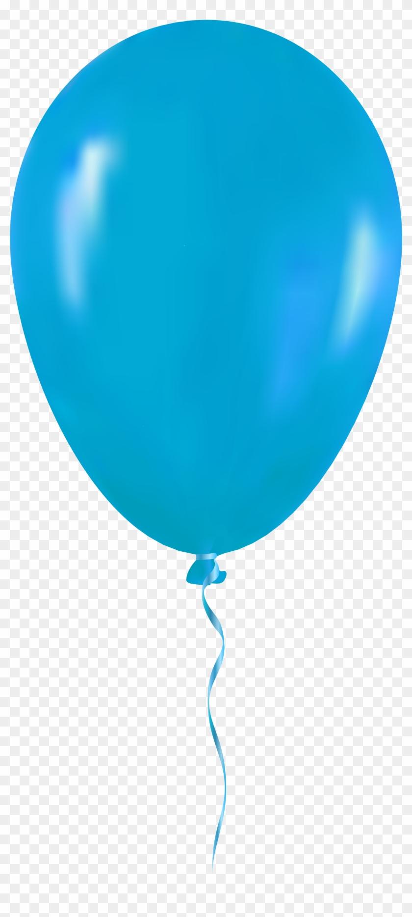 Light Blue Balloon Png Clip Art - Blue Balloon Png #27923