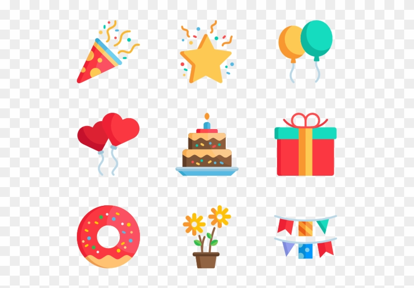 Celebrations - Birthday Icons Png #27914
