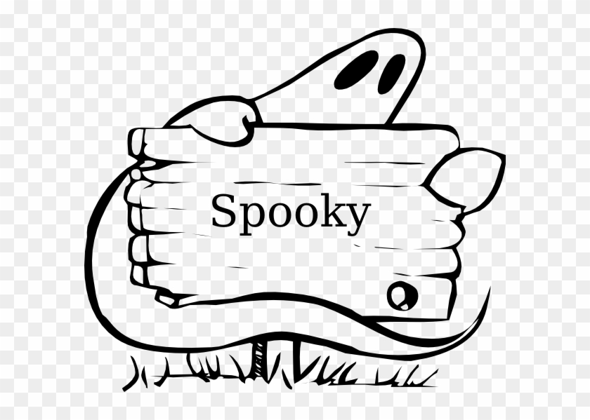 Spooky Clipart - Halloween Coloring Name Tags #27919